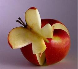 Поделки из фруктов бабочка из яблока