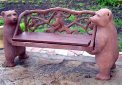 Дизайн сада скамья скульптура