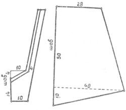 Выкройка фартука-передника кухонного