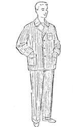 Выкройка пижамы для мужчины