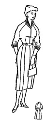 Зимнее платье с рукавом реглан