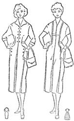 Платье с цельнокроеным воротником