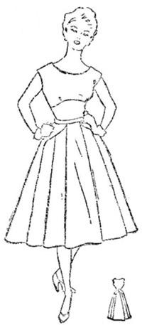 платье полусолнце выкройка