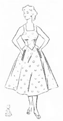 Женский сарафан с пышной юбкой