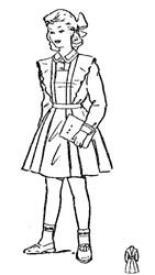 Школьная форма с фартуком для девочки