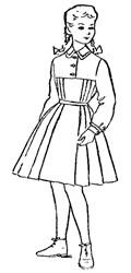 Школьное платье советских времён